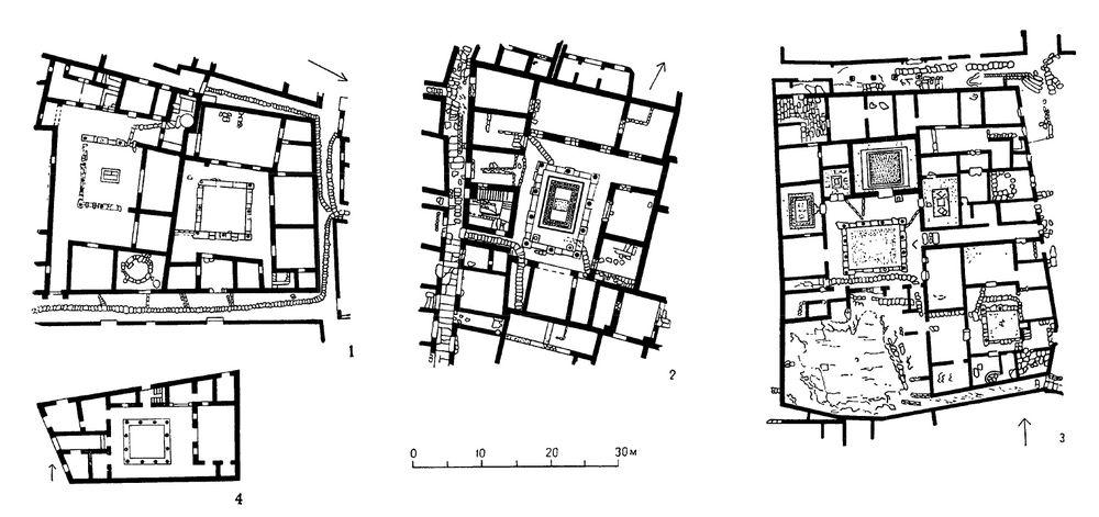 Схема греческого жилого дома