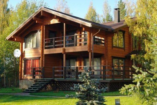 Дома, построенные из профилированного бруса