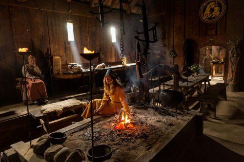Обстановка жилища викингов