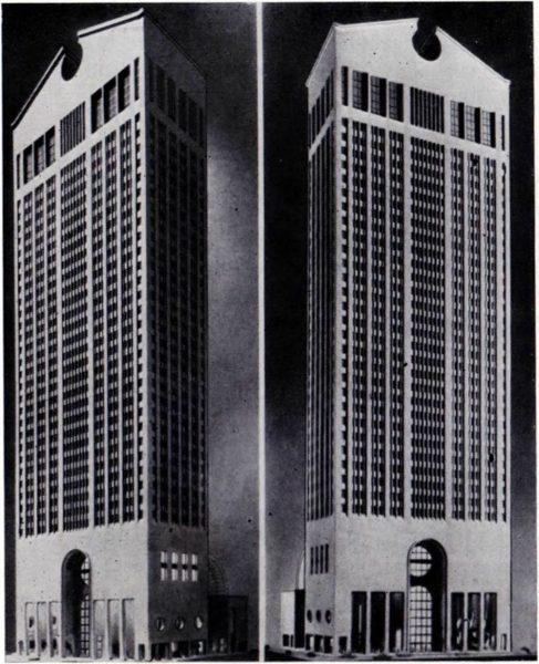 проект небоскреба фирмы ATT в Ньо-Йорке