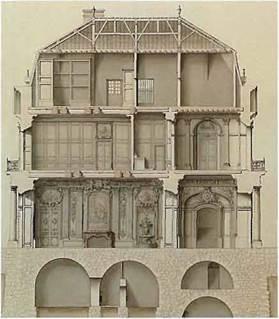Овальный Зал принцессы декорирован в стиле рококо - зеркала и росписи сделаны Натуаром (1700-1777)