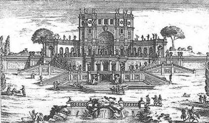Пьетро да Кортона<br />Рим, вилла Саккетти, 1625-1630 с гравюры Гецци