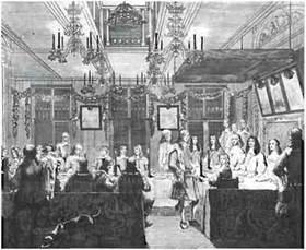 Потолки в английских интерьерах украшались переплетающимися орнаментами и ассоциируются со стилем Раннего Возрождения.
