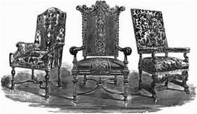 обитое шелком кресло из Ноула, дворец в Сэвеноксе, графство Кент