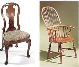 Более компактные и легкие кресла в стиле королевы Анны