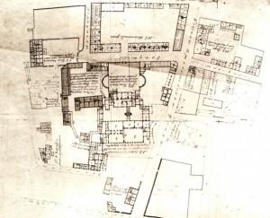 План усадьбы Пречистенского дворца