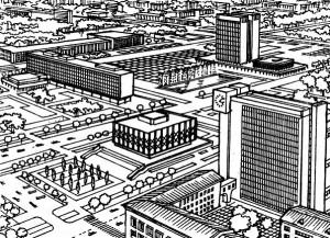 Развитие исторически сложившейся структуры города