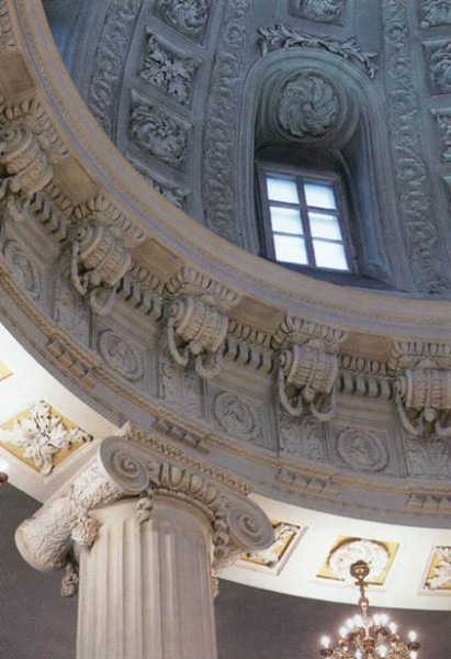 Москва. Церковь Филиппа Митрополита. 1777-1778 гг.  Фрагмент интерьера
