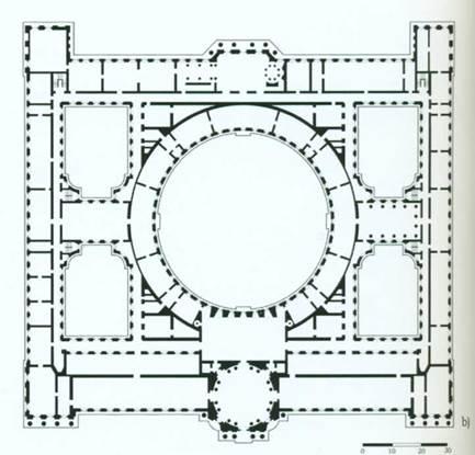 Архитектор Ж.-Б. Валлен-Деламот. Академия Художеств в Санкт-Петербурге. 1764-1788 гг. План