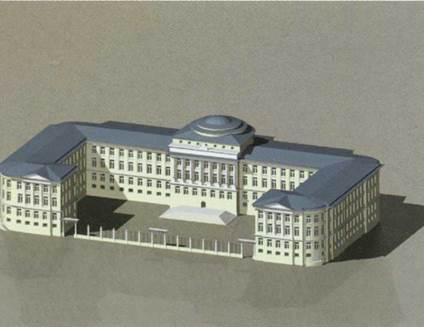 Московский университет. Научная реконструкция осуществленного проекта М.Ф.Казакова