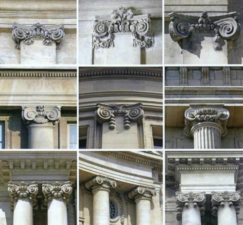 Фрагменты архитектурных произведений Парижа