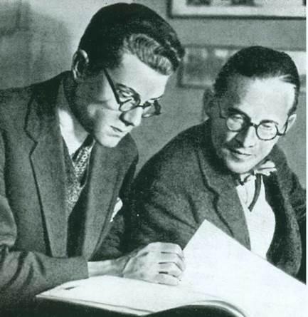 Ле Корбюзье, Андрей Буров и Сергей Эйзенштейн в Москве. 1928 г.