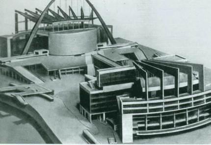 Ле Корбюзье. Конкурсный проект Дворца Советов в Москве. 1931 г.