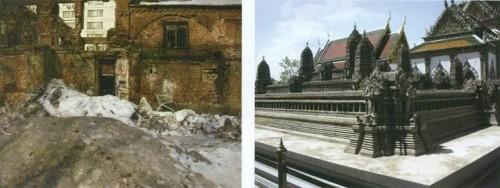 Иногда руины - воплощенный хаос (слева), а иногда их признаки (несмотря на возраст сооружения) невозможно обнаружить