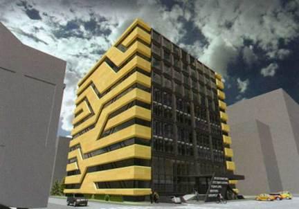 Конкурсный проект библиотеки в Новосибирске, И.А. Попов