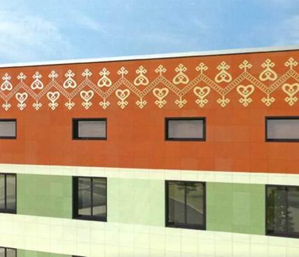 Якутские орнаменты. Использование якутских орнаментов на современных зданиях добавляет национальный колорит, где каждый узор подобран со смыслом.