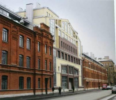 Петербург. Проект жилого комплекса по адресу Виленский пер, 15