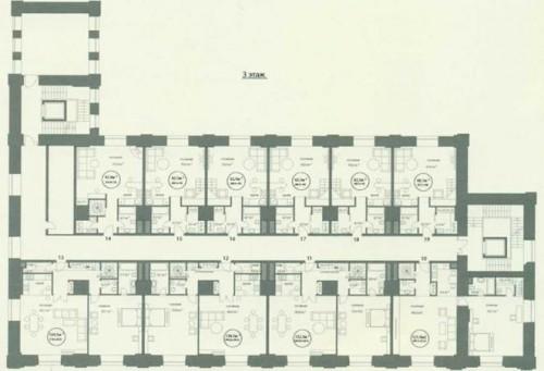 Москва. Квартал Wine House. Бывший производственный корпус. План 3-го этажа