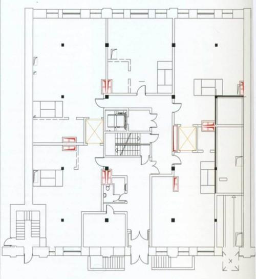 Москва. Жилой комплекс Soho Loft Apartments. План 1 этаж;